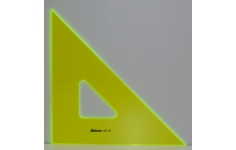 Hellerman Fluorescent Perspex 45° 355mm  Square Edged