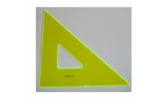 Hellerman Fluorescent Perspex 45° 425mm  Square Edged