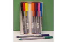 edding 55 fineliner Pen. Wallet of 10 Assorted Colours