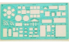 Linex House Furniture Template  Scale 1:50