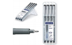 Staedtler Drawing Pens. Wallet 4 Pens 0.1, 0.3, 0.5, 0.7mm