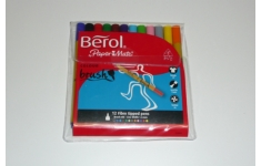Berol Colourbrush Pens. Wallet 12 Assorted Colours