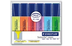 Staedtler Highlighters. 6 Assorted Colours