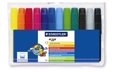 Staedtler Watercolur Markers. Wallet 12 Assorted Colours
