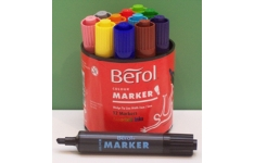 Berol Watercolour Markers. 12 Assorted Markers