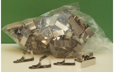 Hellerman Nickel Plated Drawing Board Clips.  Unit 100