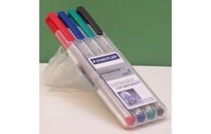 Staedtler Lumocolour Overhead Projector Pens. 0.6mm. Unit of 4 Pens