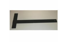 Hellerman Black Plastic Tee Square A2. Single. 650mm