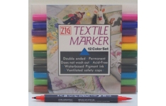 Zig Textile Markers. Unit 12 Assorted markers