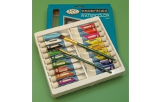 Essentials Watercolour. Set of 18 Assorted Colours