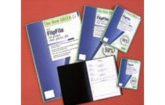 FlipFile Recycled Display Books. A2 20 Pockets