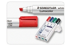 Staedtler Whiteboard Markers. Chisel Tip. Unit of 4 Pens Assorted Colours