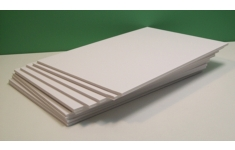 Foamboard.   5.0mm.  A3 White/White.  Box 10 Sheets