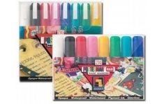 ZIG Posterman Wet-Wipe Waterproof Chalk Markers Sets - Extra Broad 8 Colours