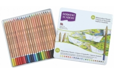 Derwent Academy Watercolour Pencils. 36 Assorted Colours