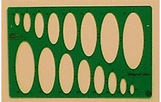Hellerman Ellipse Template.16 Ellipses 15 to 90mm.