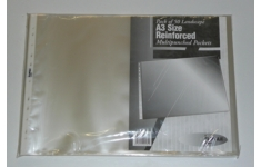 A3 Filing Pockets. Pack of 50. Landscape/Oblong 100% Recycled