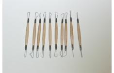 Clay Tools. Set of 10 Wire Tools