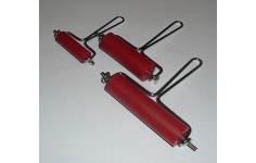 Hard Rubber and Metal Lino Craft Print Rollers. Set of 3