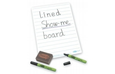 Show Me Drywipe A4 Lined Board 650 micron. Pack of 100