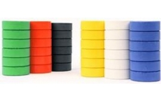 Brianclegg Colour Paint Blocks. Pack of 6 Assorted Blocks
