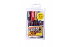 Uni Posca Markers PC1M Extra Fine Pack of 5 Coloured Markers
