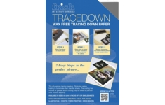 Frisk Tracedown Paper A4    pack of 5 Graphite