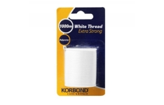 Korbond 1000 m Extra Strong Thread, White