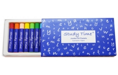 Study Time Jumbo Oil Pastels - 12 Assorted Colours