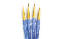 Royal LangNickel  crafters choice brush sets.Pack of 4 brushes 10/0,5/0,3/0,0.