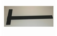 Hellerman Black Plastic Tee Square A3 length 500mm