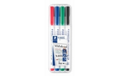 Staedtler Lumocolour Dry Wipe Whiteboard Pens - Pack of 4 Colours